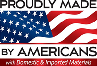 Proudly made in America logo